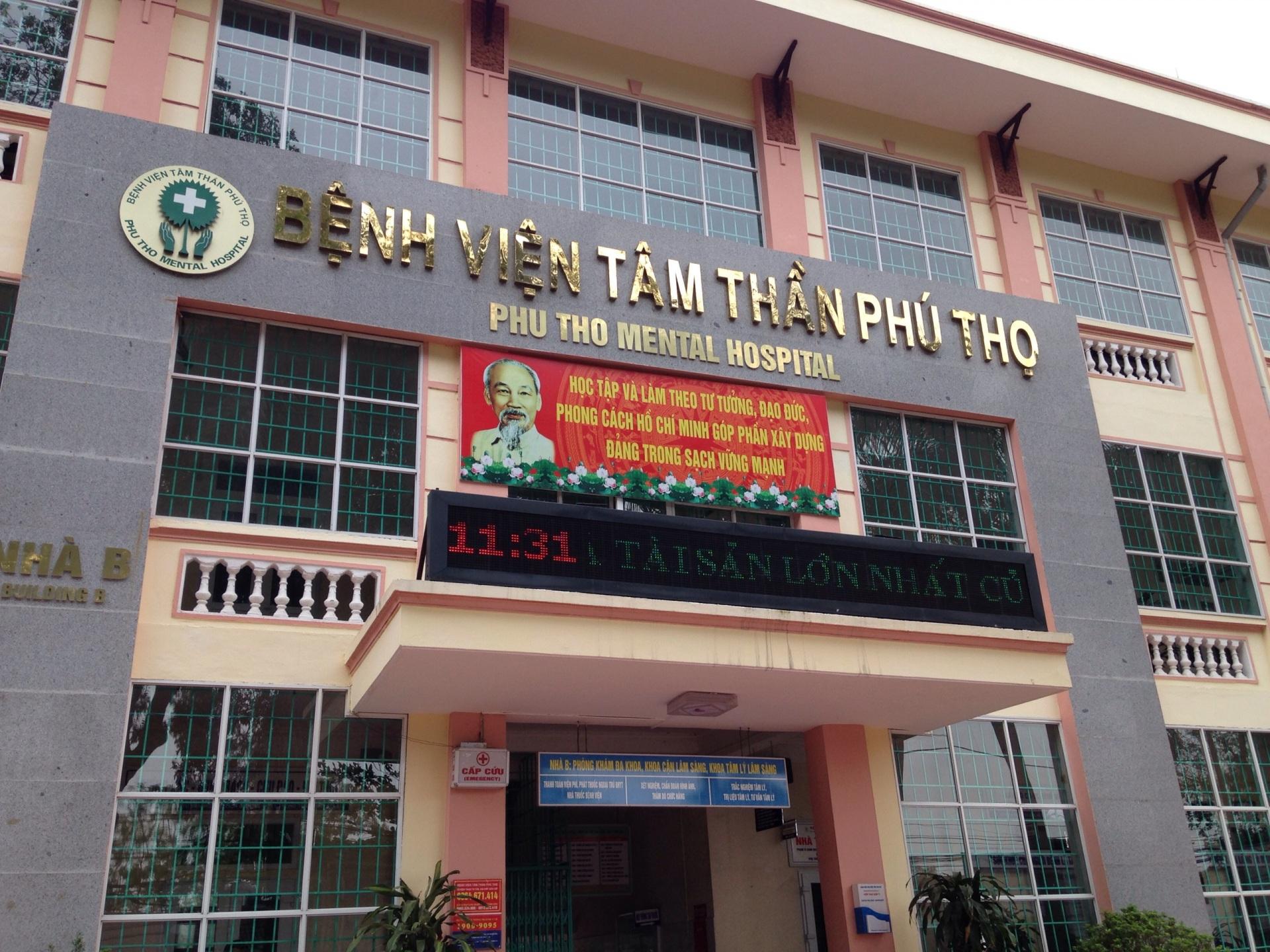 Bệnh viện Tâm thần tỉnh Phú Thọ lắp đặt hệ thống chuông gọi y tá