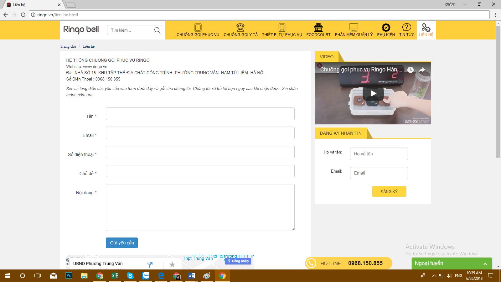 thông tin khách hàng mua hệ thống chuông báo gọi y tá