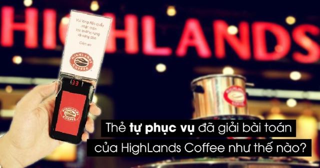 Thẻ báo rung được sử dụng tại highland Coffee